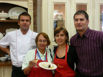 Radek Kasparek, Lenora Hayman, Valentina Dzombakova, Martin Schwarz  at Ola Kala Culinary School